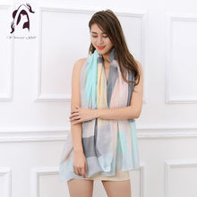 [YWJUNFU] New Style Good Quality Fashion 100% Cotton Scarf Long Shawls Wraps Women 180*90cm Square Scarves Holiday Lady ZS0012