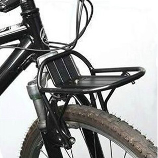 2016 Black New Cycling Carrier pannier racks Bike Bicycle Aluminum Alloy Front Rack Panniers Bag Bracket