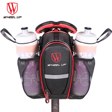 WHEEL UP 2 Pockets Bike Bag Bicycle Seat Post Bag Mountain MTB Road Bike Seat Rear Tail Pouch Bottle Bags New 900D 2017 hot sale