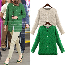 2017 Fashion Women Sweater Autumn Outerwear Cardigans Knitted Shirt Hollow Out Blusas Europe Boyfriend Feminino Plus Size 5XL