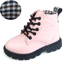 2017 New Winter Autumn Children Shoes PU Leather Waterproof Martin Boots Kids Snow Boots Girls Boys Rubber Boot Fashion Sneakers