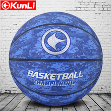 NEW original kunli basketball ball KLBA-201 BLUE NEW Brand High Quality Genuine Molten PU Material Official Size7 Basketball(China)