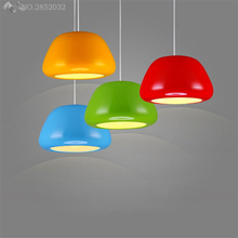 Nordic modern simple pendant lamp colorful apple aluminum hanging light for living roomCafe Restaurant Bar bedroom fixture decor