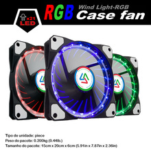 ALSEYE 120mm RGB LED Cooler fan for computer / CPU cooler / Water cooling Radiator 12v 1100RPM Case light Multicolor LED fan