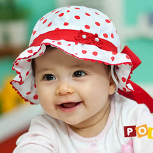 1 Piece New Hot Fashion Lovely Dot Bowknot Summer Children Kid Baby Sun Hat Cap Girls Princess photography