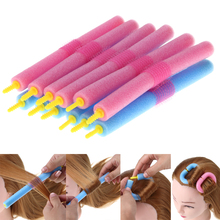 12 Pcs Hair Art Foam Twist Curler Roller Set Easy Bending Hair Styling Shaping Cling Hairstying DIY Pro Salon Barber Tool Kit(China)