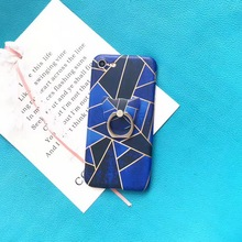Buy New Geometric + Cat Finger Ring Grip Holder Stander Phone Cases iPhone 8 8Plus 7 7Plus 6 6s Plus Soft TPU Back Case Cover for $6.99 in AliExpress store