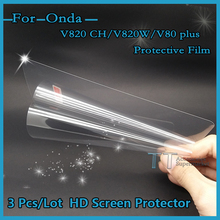 "3 pieces/lot HD Screen protector for Onda V820 CH/V820W Double system /V80 plus 8""tablet pc Protective Film+4 in1 Film Tools(China)"