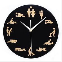 Free Shipping Sex Position Clock 24Hours Sex Clock Novelty Wall Clock