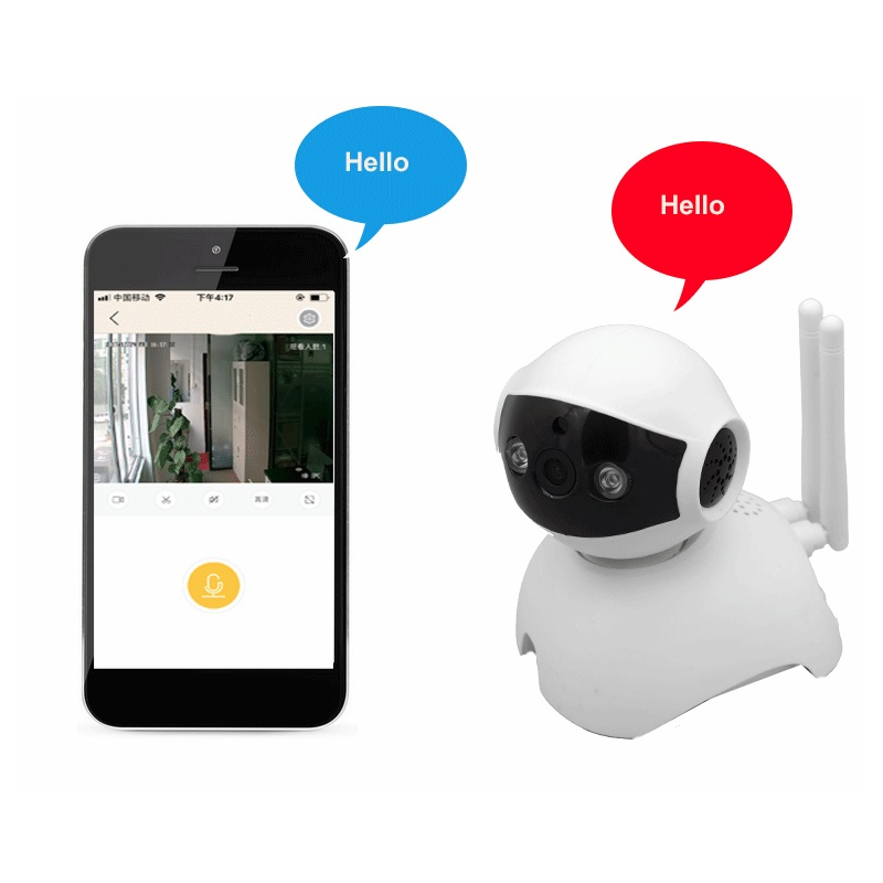 New cute dog 720P P2P Wireless Wifi IP Camera 64G TF Card slot Baby Monitor Night Vision Home Surveillance Security CCTV Camera <br>