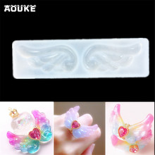 Angel Wing DIY Jewelry Crystal Drops Epoxy Mold Pendant Translucent Molds Chocolate Silicone Mould Mobile Phone Decoration Tools