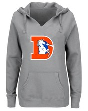Women's Winter Broncos Fans Hoodies, New Design Denver Sweatshirts 80s Old Broncos D Logo Printing Fashion Tops V-neck Pullover(China)