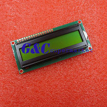 Yellow 1601 16X1 Character LCD Display Module LCM STN SPLC780D / KS0066(China)