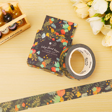 1.5cm*7m Blue Kam flowers washi tape DIY decoration scrapbooking planner masking tape adhesive tape label sticker stationery