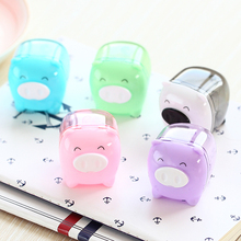1 Pcs Deli Cute Kawaii Animal Pig Sweet Candy Colored Pencil Sharpener Korean Kids School Supplies Stationery