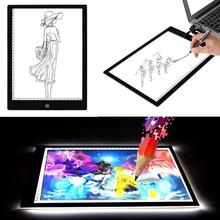 For A4DC LED Thin Stencil Tattoo Drawing Display Board Tablet Tracing Drawing Display Light Box Table Pad 3 Gear Dimming