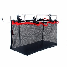 2017 Portable Iron Rack And Storage Bag Table Barbecue Picnic Kit Kitchen Sundries Organizer Large Capacity For Outdoor Camping(China)