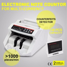 Digital Cash Counter Banknote Money Detector UV MG Counterfeit Detection with LED Display for Bank Retail Store(China)