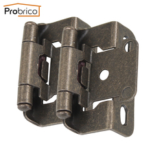 Probrico 20 Pair Self Close Kitchen Cabinet Hinge Antique Bronze CH196AB Partial Wrap 1/2-Inch Overlay Furniture Cupboard Hinge(China)