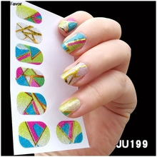 AddFavor Nail Art Sticker Polish Gel Foils Colorful Gold Silver Stickers Decal DIY Nail Tips Blingling Glitter Decoration Tools(China)