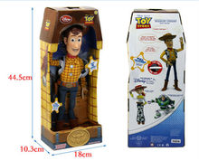 "NEW Toy Story Plush Toy WOODY 15"" Talking Stuffed Doll Figure Kids Gift"