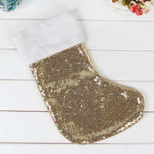 Sequin large size Christmas stockings children Christmas Tree Decoration pendant socks Santa Claus Candy Bag Christmas gift bag(China)