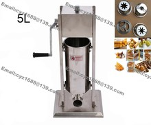 Free Shipping 5L Stainless Steel Heavy-duty Hand Operated Churros Spanish Doughnuts Machine Churro Maker Filler(China)