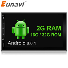"Eunavi 7"" 2din 1024*600 Android 6.0 Car Tap Pc Tablet 2 Din Universal For Nissan Gps Navigation Radio Stereo Player (no Dvd)"