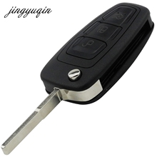 jingyuqin 3 Buttons Flip Folding Remote Key Shell for Ford Focus Fiesta 2013 Fob Case with HU101 Blade(China)
