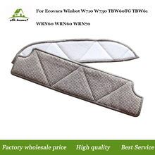 1set Mopping Cleaning cloth Dishcloth dishrag For Ecovacs Winbot W710 W730 TBW60TG TBW61 WRN60 WRN70 Accessories Replacement(China)