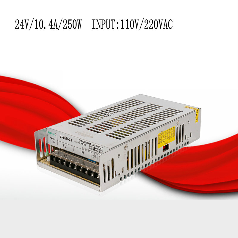 S-250-24 24V/10.4A/250W switching power supply, centralized power supply, power supply security monitoring<br>