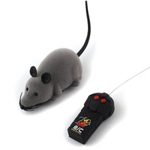 RC Mice Toy Pets Cat Toy Mouse For kids toys Cat Toy Wireless Remote Control Mouse Electronic(China)