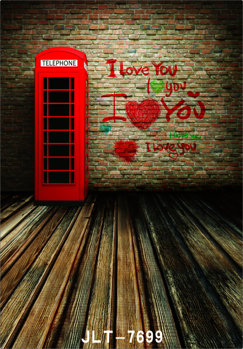 Red Phone Booth Brick Wall Vinyl Photography Backdrop Custom Photo Prop Backgrounds  Photography backdrops <br><br>Aliexpress