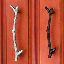 1pcs Novel European simple Kitchen cabinets Tree Branch Handles Door Knobs Bedroom Closet Drawer Pulls Shabby Hardware