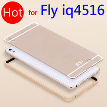 Fly IQ4516 Tornado Slim Free Shipping Coloured Metal Frame Rim Bounding Box Cover Smart Mobile Cell Phone Cases for fly iq 4516(China)