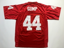 Forrest Gump 44 Football Jersey Stitched Tom Hanks Movie Red Mens Throwback(China)