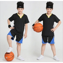 New Kids Basketball Jersey Short Sleeve Sports Training Sets Students Breathable Running Clothes Team Uniforms Blank Jerseys(China)