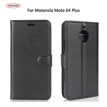 HUDOSSEN For Motorola Moto E4 Plus Case 5.5 Luxury Flip PU Leather Silicone Phone Cover Cases For Moto E 4 Plus XT1770 XT1773