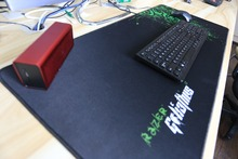 Razer Mouse Pad MG LOL Large Black Mouse Pad Thickening Hemming Mouse Keyboard Table Mat super large gift pad mat