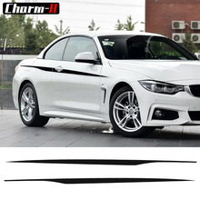 Buy Pair 5D Carbon Fibre/Gloss/Matte Black M Performance Side Door Racing Stripes Decals Vinyl Sticker BMW 4 Series F32 F33 for $21.00 in AliExpress store