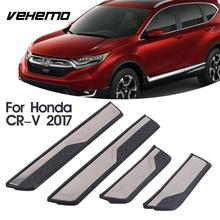VEHEMO 4Pcs Car Stying Door Sill Trim Strip Cover Welcome Pedal Paint Protector Guard For Honda CRV Accessories(China)
