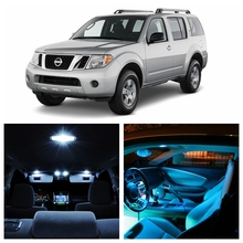 12pcs Ice Blue White LED Light Bulbs For 2005-2012 Nissan Pathfinder Interior Package Kit License Plate Lamp Nissan-EF-15