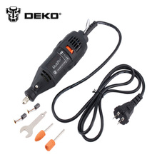DEKO 220V 130W Dremel Style Electric Rotary Tool Variable Speed Mini Drill with 5PC Accessories Power Tools