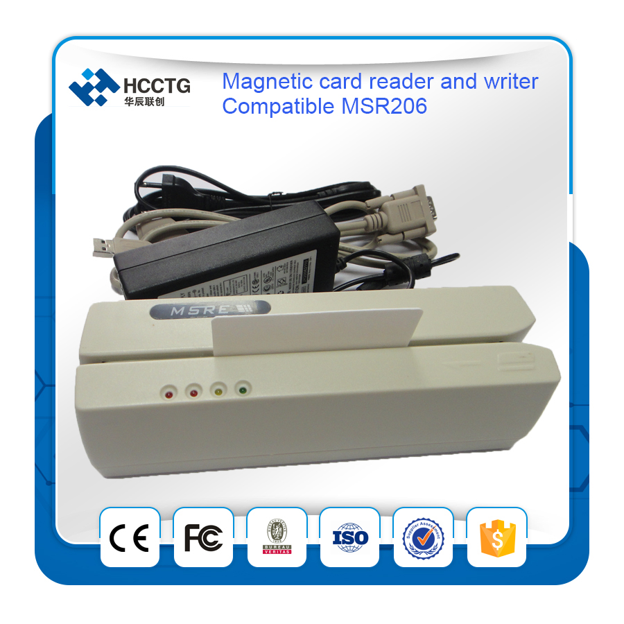 HCC206 USB Magnetic Reader And Simple Software POS Magnetic Reader Writer
