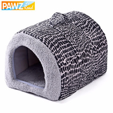 2017 New Fashion 2 Color Leopard Easy to Carry Pet Bed Lovely Cats House Dog Kennel Cozy Mat Soft Dog Bed Goods for Pets(China)