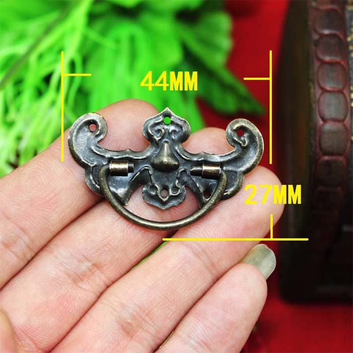 50PCS 44*27M European Style Antique Bronze Mini Cabinet Handle Drawer Pull Jewelry Box Handle<br><br>Aliexpress