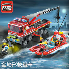 2017 New Low Price Enlighten Fire Boat Crane Truck 907 Building Block Assemble DIY Active Mind& Hand Brick Kids Toys Gifts