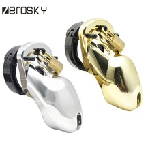 Buy Zerosky Lock Male Chastity Device,Cock Cage,Virginity Lock 5 Size Penis Ring,Cock Ring,Adult Game,Chastity Belt