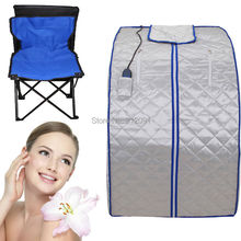 (Ship from USA) Portable FIR FAR Infrared Sauna with Remote &Foot Heating Pad Slimming Lose Weight(China)