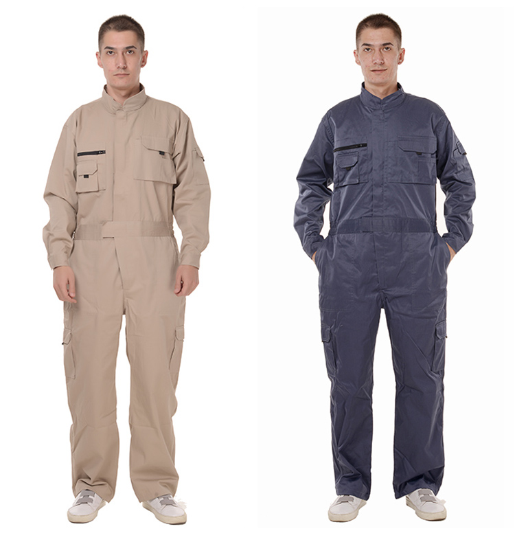 Work Overalls Long Sleeve Working Clothes Dustproof Auto repair Wear-resistant Coveralls Unisex Workwear Solid Color Uniforms (3)